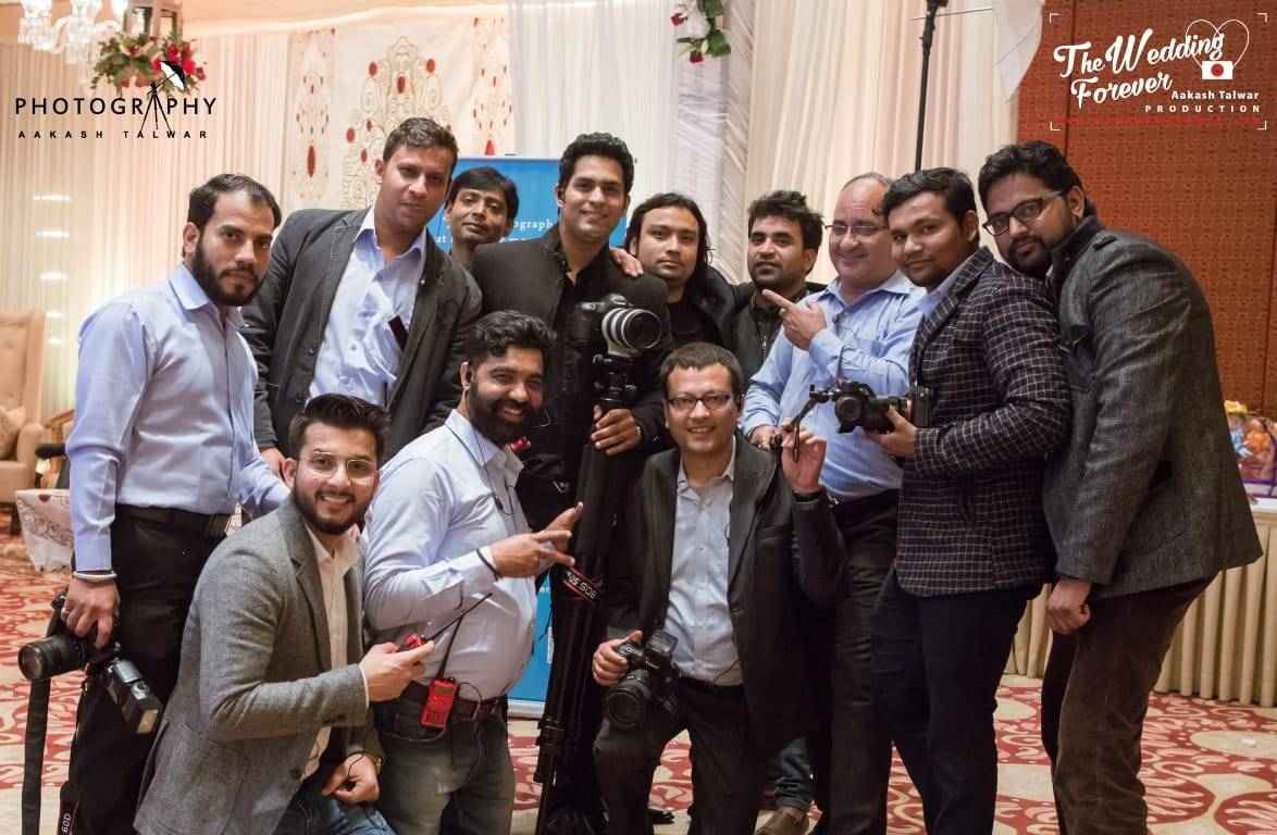 team of photographer aakash talwar productions the wedding forever